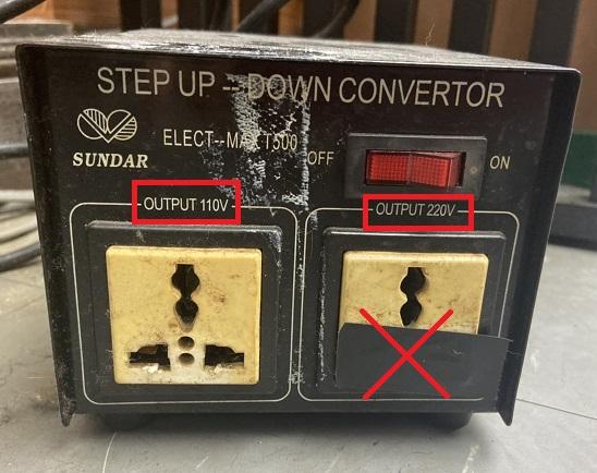 変圧器500ワット