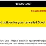 スクート(SCOOT) 現金での払戻しメールが届きました!