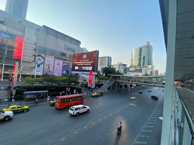 コロナで閉鎖中のバンコク伊勢丹・セントラルワールド前(バンコク)